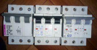 Автоматический выключатель Moeller CLS6-C2/3 2А, ETIMAT 16A, SEZ 16A,